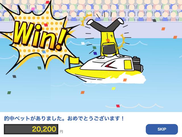 2020年11月3日の競艇チャンピオン(競艇CHAMPION)の無料予想のおめでとう画像